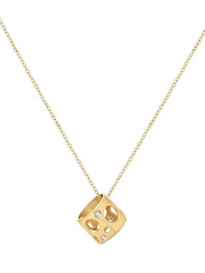 Diamond Tiny Holly Bead Necklace