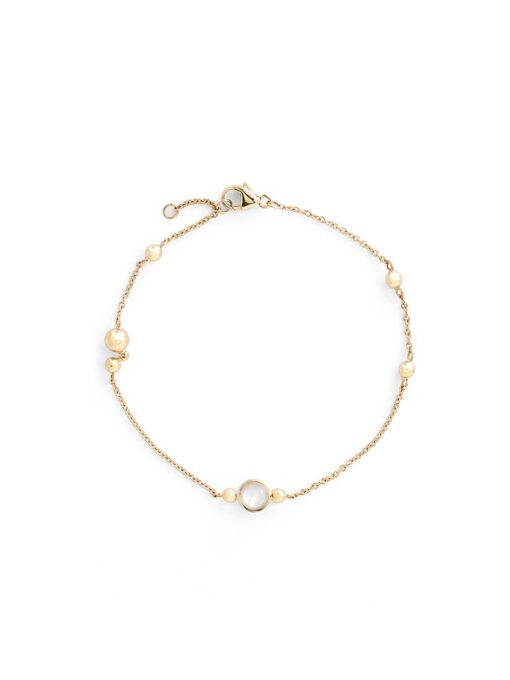Dew Drop Marine Bracelet - Moonstone & Gold