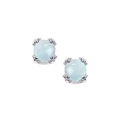 Mini Dewdrop Cluster Studs - Aquamarine & Silver