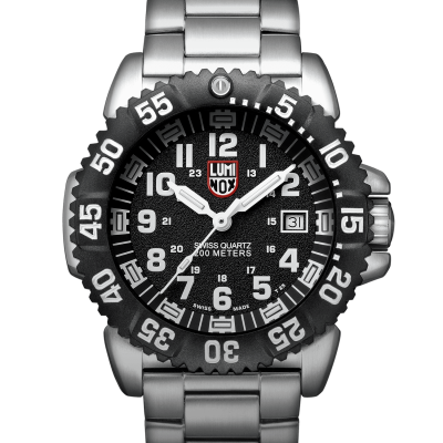 NS White on Black Steel Colormark Black Bezel