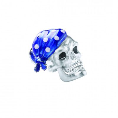 Silver Skulls with Blue Bandanas