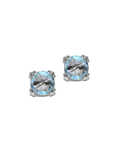 Dewdrop Cluster Studs - Blue Topaz & Silver