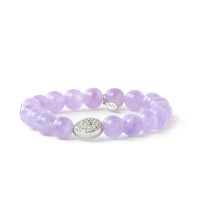 Boheme Silver Starburst Bracelet - Amethyst & Silver