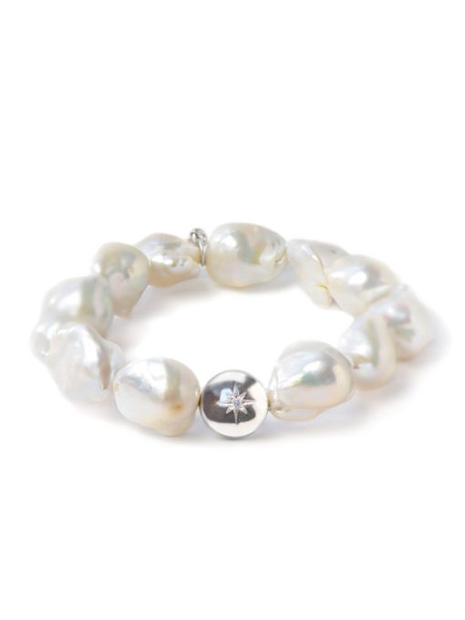 Boheme Silver Vintage Star Baroque Pearl Bracelet