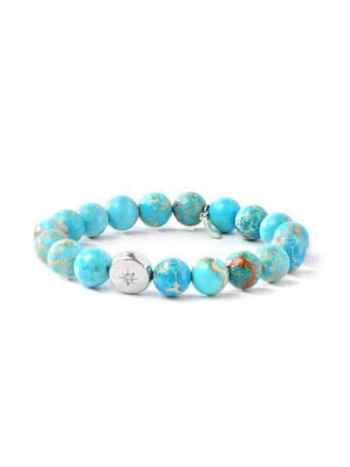 Boheme Vintage Star Bracelet - Turquoise Jasper & Silver