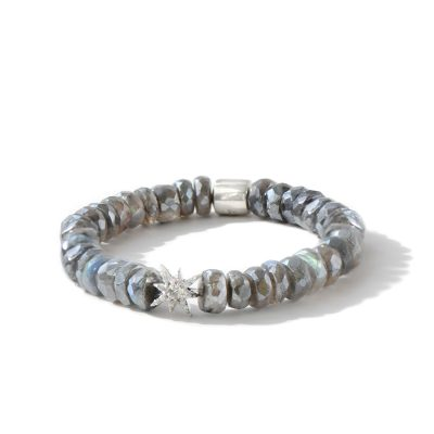 Boheme Starburst Bracelet - Mystic Labradorite & Silver