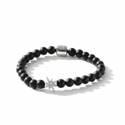 Boheme Silver Starburst Bracelet - Black Onyx