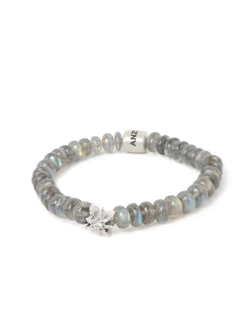 Boheme Silver Starburst Bracelet - Labradorite Rondelles