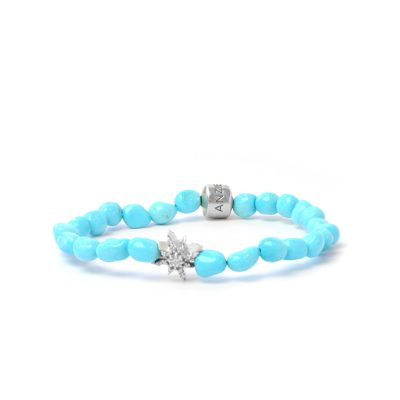Boheme Starburst Bracelet - Sleeping Beauty Turquoise nuggets & Silver