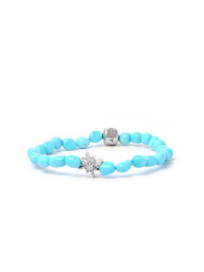 Boheme Starburst Bracelet - Sleeping Beauty Turquoise nuggets & Silver