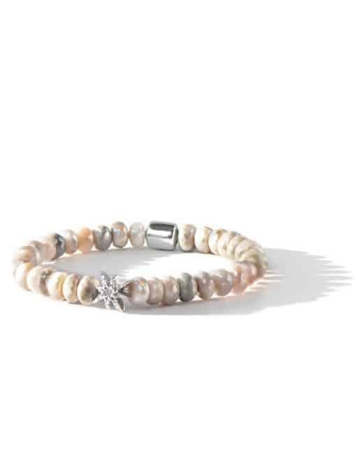 Boheme Starburst Bracelet - Mystic Grey Moonstone & Silver