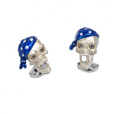 Skulls with Blue Bandanas
