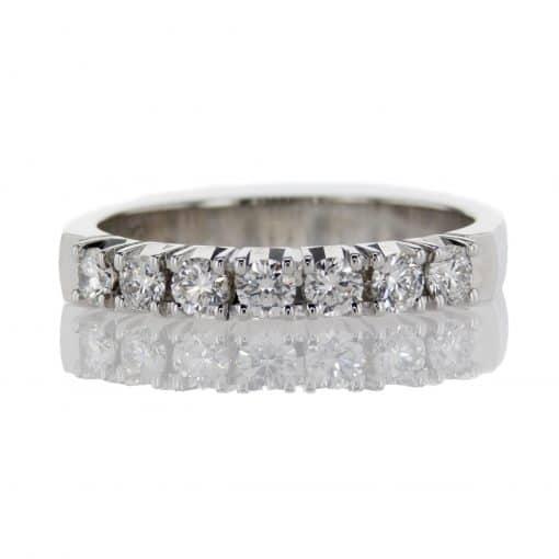 Seven Stone Anniversary Ring