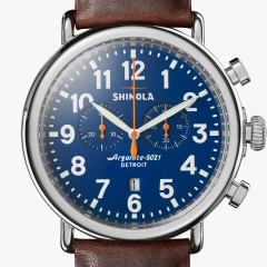 Runwell Chrono 47mm Blue Dial