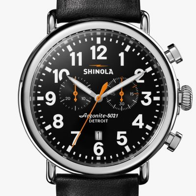 Runwell Chrono 47mm Black Dial