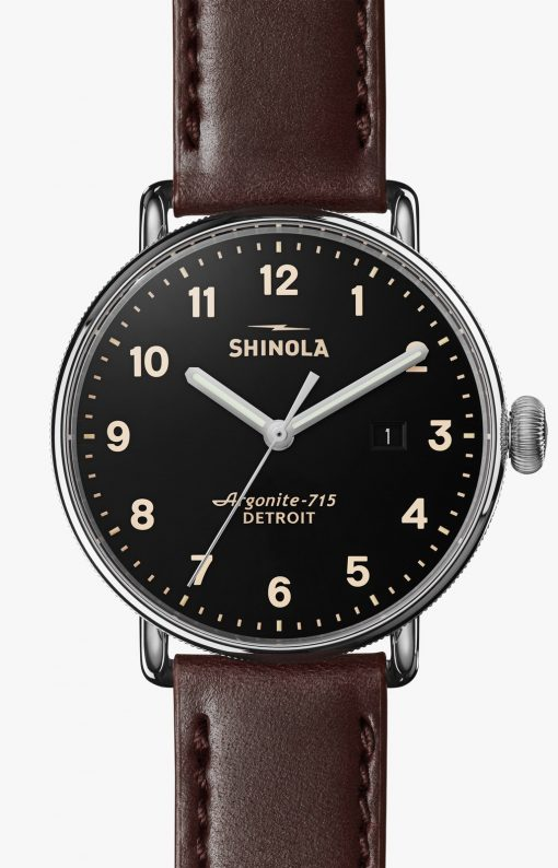 Canfield 43mm Black Dial