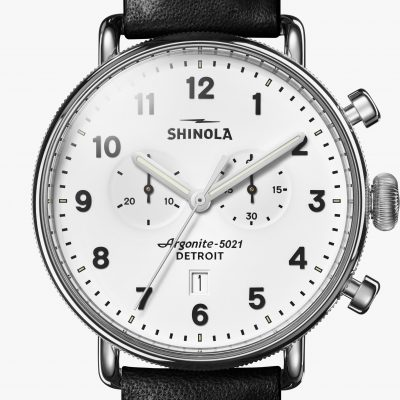 Canfield Chrono White Dial