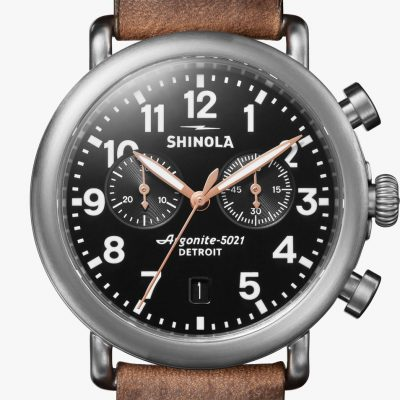 Runwell Chrono 41mm Brushed Case