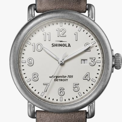 Runwell 41mm Tumbled Steel