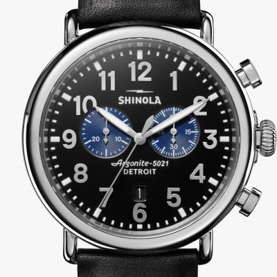 Runwell Chrono 47 Black and Blue Dial