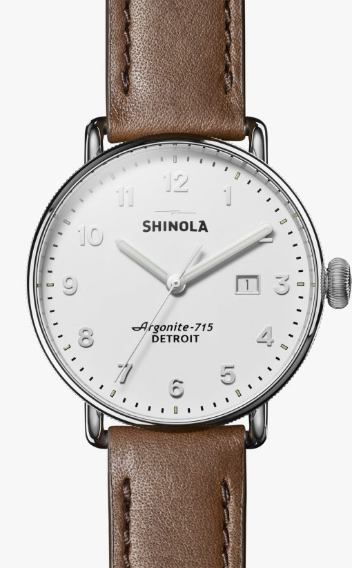 Canfield 43mm White Dial